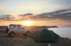 El acampar Foto de archivo libre de regalías