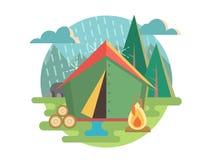 El acampar al aire libre de la reconstrucción Fotografía de archivo libre de regalías