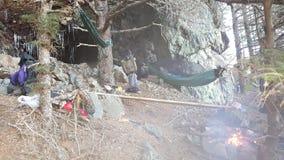 El acampar de la hamaca Foto de archivo libre de regalías