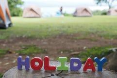 El acampar de las tiendas del día de fiesta Imagen de archivo libre de regalías