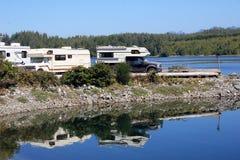 El acampar de rv Imagen de archivo libre de regalías