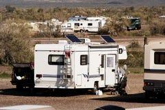 El acampar del desierto Foto de archivo libre de regalías