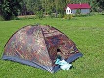 El acampar del país Imagen de archivo libre de regalías