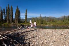 El acampar del yermo imagen de archivo