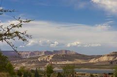 El acampar en el lago Powell Imagen de archivo libre de regalías