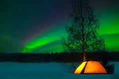 El acampar en el norte Fotos de archivo libres de regalías