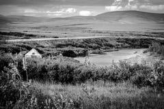 El acampar en el yermo Fotos de archivo libres de regalías