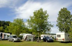 El acampar en Francia Imagen de archivo libre de regalías