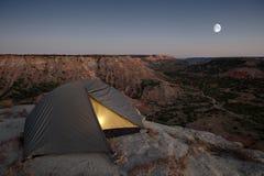 El acampar en la barranca Fotografía de archivo
