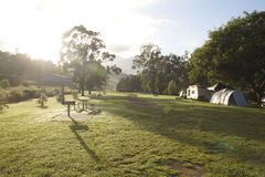 El acampar en la cala de la Navidad Imagen de archivo