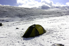 El acampar en Nimaling Imagen de archivo libre de regalías