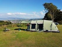 El acampar en el Reino Unido Imagenes de archivo
