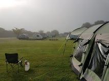 El acampar en el Reino Unido Foto de archivo
