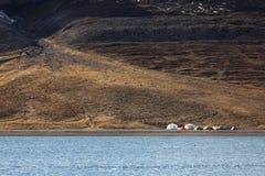 El acampar extremo en Svalbard Imagen de archivo