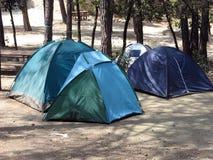 El acampar hacia fuera Foto de archivo libre de regalías