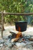 El acampar salvaje Foto de archivo libre de regalías