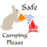 El acampar seguro Fotografía de archivo libre de regalías