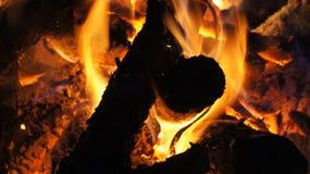 El acampar y fuego Fotografía de archivo libre de regalías