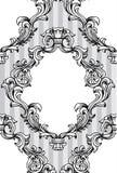 El acanthus barroco del vector sale marco del modelo inconsútil Imágenes de archivo libres de regalías