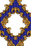 El acanthus barroco del vector sale marco del modelo inconsútil Fotografía de archivo