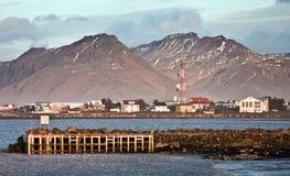 El acceso de Hofn (Islandia) Imagenes de archivo