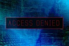 El acceso del ` negó el ` en la pantalla del sistema informático imágenes de archivo libres de regalías