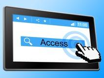 El acceso en línea representa el World Wide Web y accesible libre illustration