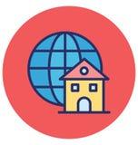 El acceso global aisl? el icono del vector que puede modificarse o corregir f?cilmente ilustración del vector
