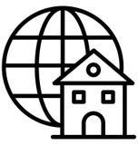 El acceso global aisl? el icono del vector que puede modificarse o corregir f?cilmente libre illustration