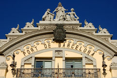El acceso hermoso de Barcelona fotografía de archivo
