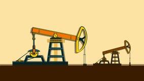 El aceite de bombas de la plataforma petrolera sin la detención ilustración del vector