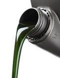 El aceite para los flujos del motor Fotos de archivo libres de regalías