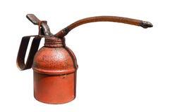 El aceite viejo puede aislado en el fondo blanco Imagen de archivo