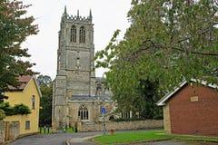 El acercamiento a la iglesia 2, Tickhill, Doncaster, South Yorkshire del ` s de St Mary imagen de archivo libre de regalías