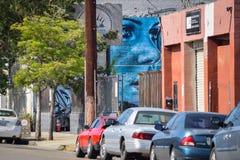 El acero azul - edición del distrito del ` s del arte fotos de archivo libres de regalías