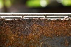 El acero oxidado Foto de archivo