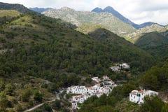 EL Achebuchal en el parque natural de las sierras de Tejeda cerca de Frigliana en Andalucía foto de archivo
