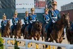 El acompañamiento de la caballería del honor del presidente Fotografía de archivo