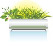 El acondicionador moderno es un rescate a partir de un verano caliente Imagen de archivo libre de regalías