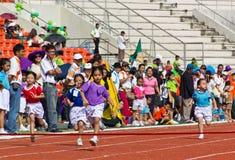 El acontecimiento del día del deporte de los niños imagen de archivo