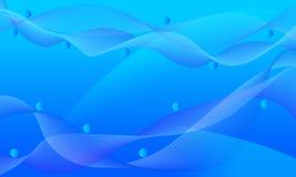 El acoplamiento ondulado azul alinea el fondo abstracto Fotografía de archivo libre de regalías