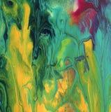 El acrílico abstracto, acuarela pintó el fondo Fotos de archivo libres de regalías
