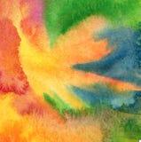 El acrílico abstracto, acuarela pintó el fondo Imagenes de archivo