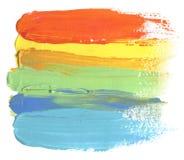 El acrílico y la acuarela abstractos cepillan el fondo pintado los movimientos Fotografía de archivo