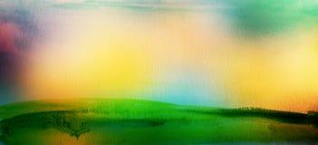 El acrílico y la acuarela abstractos cepillan el fondo pintado los movimientos Imágenes de archivo libres de regalías