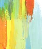 El acrílico y la acuarela abstractos cepillan el fondo pintado los movimientos Fotos de archivo libres de regalías