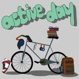 El Active se divierte día con los objetos Imagen de archivo