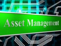 El activo de la gestión representa activos y mercancías de negocio Imagenes de archivo