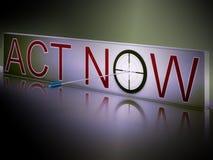 El acto ahora muestra la motivación para responder rápidamente libre illustration