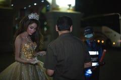 El actor de la demostración tailandesa del travestido Imágenes de archivo libres de regalías